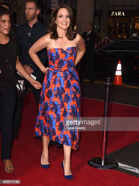 Tina Fey arrives at the 'This Is Where I Leave You' Los Angeles Premiere at TCL Chinese Theatre on September 15 2014 in Hollywood California