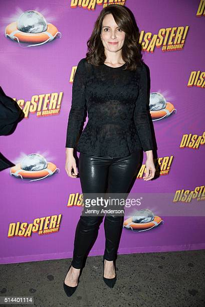 Tina Fey attends 'Disaster' Broadway opening night at Nederlander Theatre on March 8 2016 in New York City
