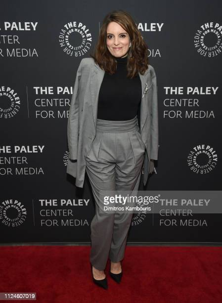 Tina Fey attends Kimmy Goes To The Paley Center A Celebration Of Unbreakable Kimmy Schmidt at Paley Center For Media on January 24 2019 in New York...