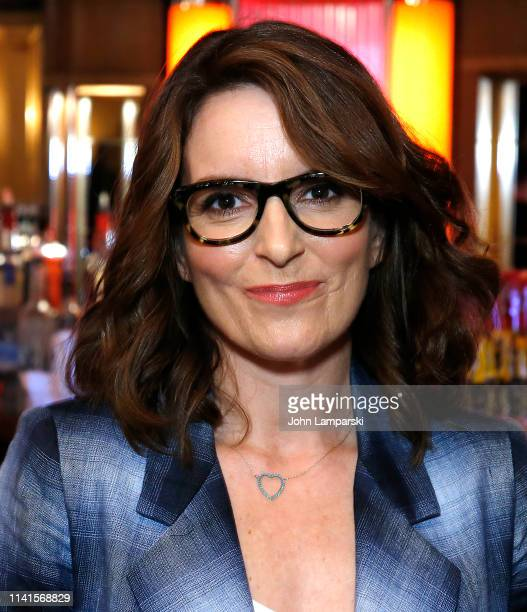 Tina Fey attends Mean Girls celebrating 1 year on Broadway at August Wilson Theatre on April 09 2019 in New York City