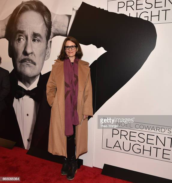 Tina Fey attends 'Present Laughter' Broadway Opening Night Arrivals Curtain Call at St James Theatre on April 5 2017 in New York City