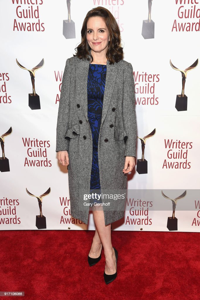 Tina Fey attends the 2018 Writers Guild Awards at Edison Ballroom on February 11, 2018 in New York City.