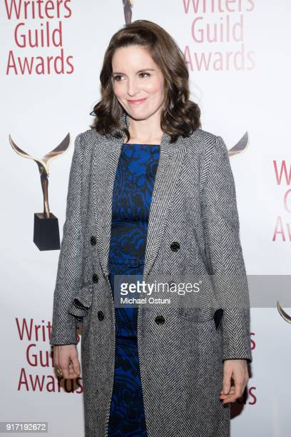 Tina Fey attends the 2018 Writers Guild Awards NYC Ceremony on February 11 2018 in New York City