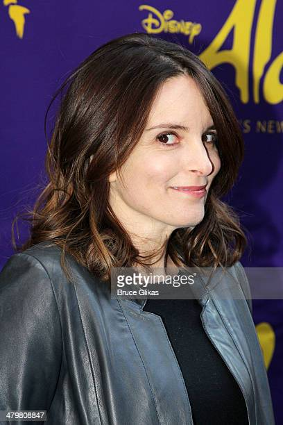 Tina Fey attends the 'Aladdin' On Broadway Opening Night at The New Amsterdam Theatre on March 20 2014 in New York City