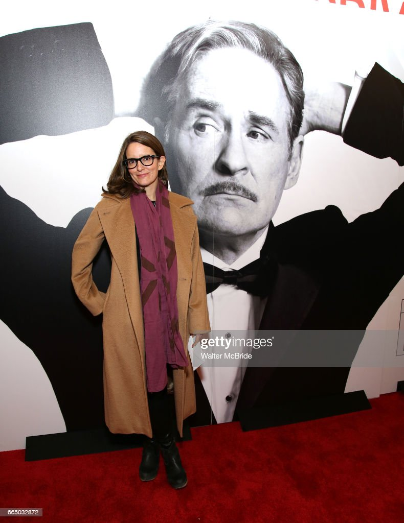 Tina Fey attends the Broadway opening night performance of 'Present Laughter' at St. James Theatreon April 5, 2017 in New York City.