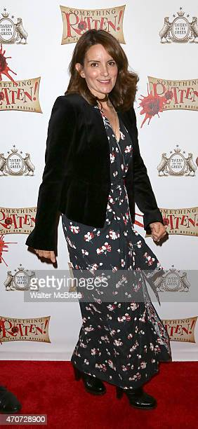 Tina Fey attends the Broadway Opening Night Performance of 'Something Rotten' at the St James Theatre on April 22 2015 in New York City