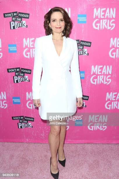 Tina Fey attends the opening night of Mean Girls on Broadway at August Wilson Theatre on April 8 2018 in New York City