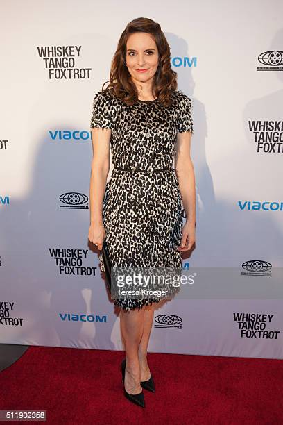 Tina Fey attends the Washington DC screening of 'Whiskey Tango Foxtrot' at Burke Theater at US Navy Memorial on February 23 2016 in Washington DC