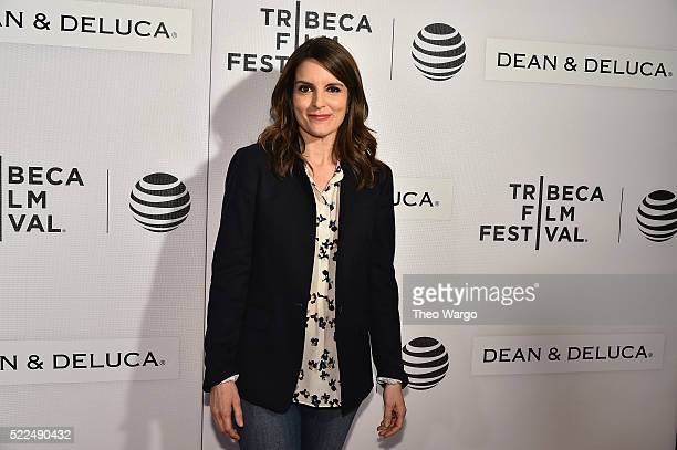 Tina Fey attends Tribeca Talks Storytellers Tina Fey With Damian Holbrook at BMCC John Zuccotti Theater on April 19 2016 in New York City
