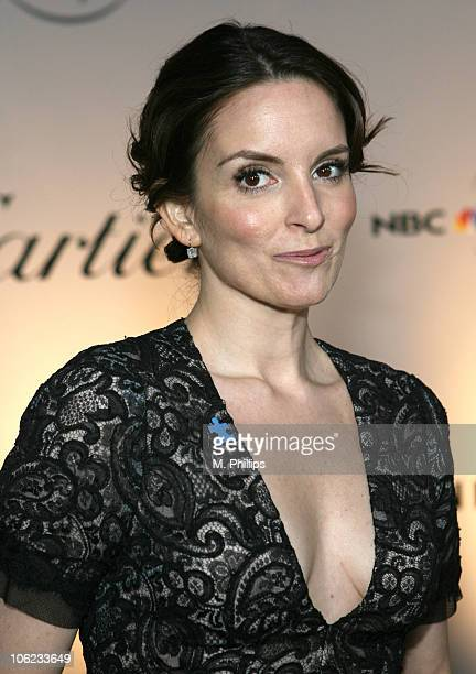 Tina Fey during Focus Features and Universal's 2007 Golden Globe After Party - Arrivals at Beverly Hilton in Los Angeles, California, United States.