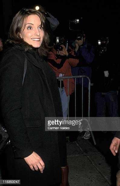 Tina Fey during Tina Fey Sighting Outside Saturday Night Live October 8 2001 at Ed Sullivan Theater in New York City New York United States