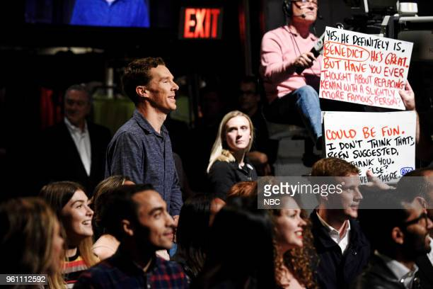 LIVE 'Tina Fey' Episode 1746 Pictured Benedict Cumberbatch during the 'Opening Monologue' in Studio 8H on Saturday May 19 2018
