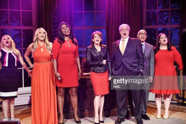 LIVE Tina Fey Episode 1746 Pictured Kate McKinnon as Kellyanne Conway Cecily Strong as Stormy Daniels Leslie Jones as Omarosa Manigault Tina Fey as...