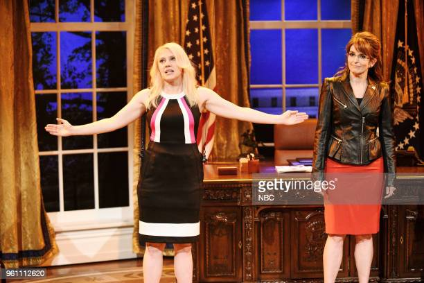 LIVE Tina Fey Episode 1746 Pictured Kate McKinnon as Kellyanne Conway Tina Fey as Sarah Palin during Sarah Palin Advice in Studio 8H on Saturday May...
