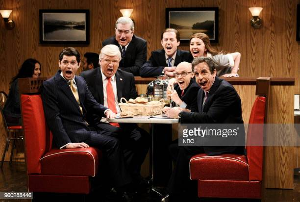 LIVE Tina Fey Episode 1746 Pictured Mikey Day as Donald Trump Jr Alec Baldwin as President Donald Trump Robert De Niro as Robert Mueller Alex Moffat...