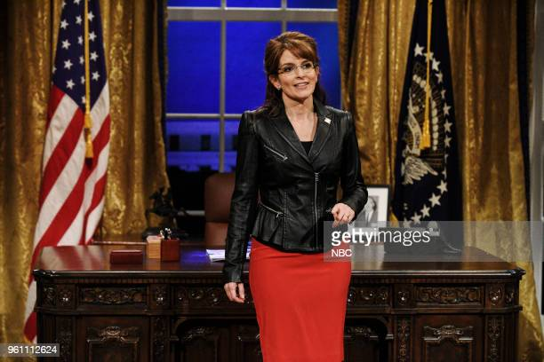 LIVE Tina Fey Episode 1746 Pictured Tina Fey as Sarah Palin during Sarah Palin Advice in Studio 8H on Saturday May 19 2018
