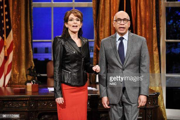 LIVE Tina Fey Episode 1746 Pictured Tina Fey as Sarah Palin Fred Armisen as Michael Wolff during Sarah Palin Advice in Studio 8H on Saturday May 19...