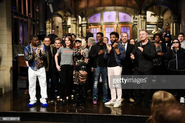 LIVE Tina Fey Episode 1746 Pictured Tracy Morgan Fred Armisen Ben Stiller Host Tina Fey Musical Guest Nicki Minaj Chris Rock Donald Glover Jerry...