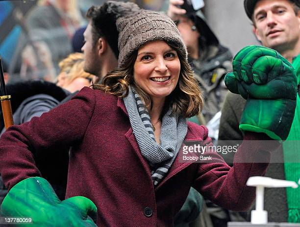 Tina Fey filming on location for '30 Rock' on January 26 2012 in New York City