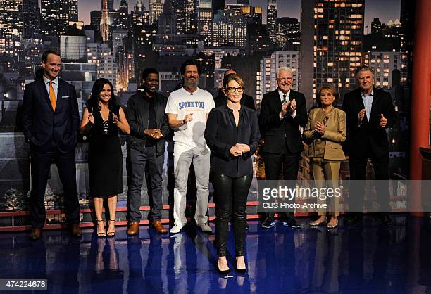 Tina Fey helps present the Top Ten List on the final broadcast of the Late Show with David Letterman, Wednesday May 20, 2015 on the CBS Television...