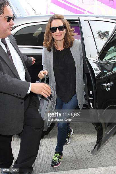Tina Fey is seen at LAX on September 21 2015 in Los Angeles California