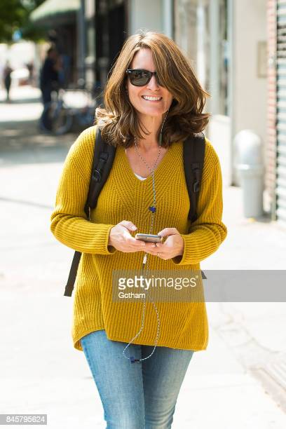 Tina Fey is seen in the Lower East Side on September 11 2017 in New York City