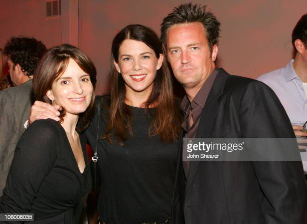 Tina Fey Lauren Graham and Matthew Perry during Entertainment Weekly Magazine 4th Annual PreEmmy Party Inside at Republic in Los Angeles California...