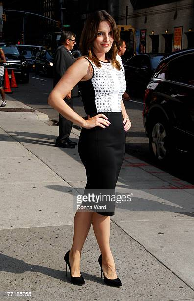 Tina Fey leaves the 'Late Show with David Letterman' at Ed Sullivan Theater on August 21 2013 in New York City