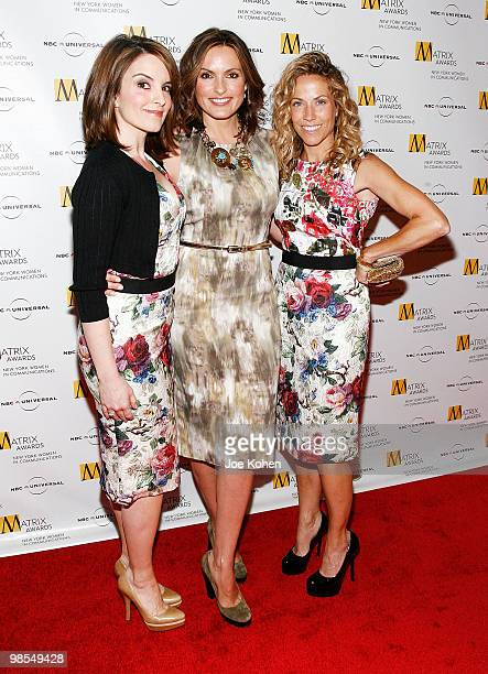Tina Fey Mariska Hargitay and Sheryl Crow attend the 2010 Matrix Awards presented by New York Women in Communications at The Waldorf=Astoria on April...