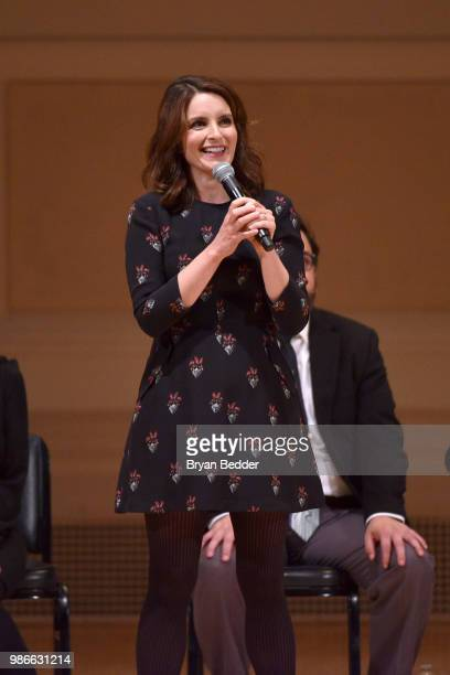 Tina Fey performs onstage during ASSSSCAT with the Upright Citizens Brigade Live at Carnegie Hall celebrating the 20th Anniversary of Del Close...