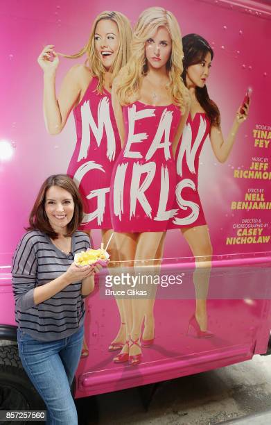 Tina Fey poses at the launch event for the Broadway musical producton of her film 'Mean Girls' at The August Wilson Theatre on October 3 2017 in New...