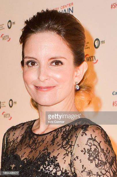 Tina Fey poses on the red carpet during The 16th Annual Mark Twain Prize For American Humor at John F Kennedy Center for the Performing Arts on...