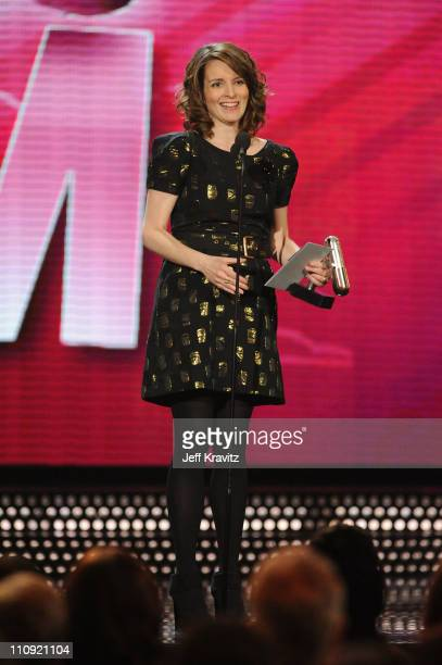 Tina Fey speaks onstage at the First Annual Comedy Awards at Hammerstein Ballroom on March 26, 2011 in New York City.