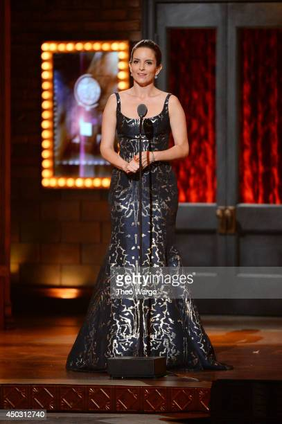 Tina Fey speaks onstage during the 68th Annual Tony Awards at Radio City Music Hall on June 8 2014 in New York City