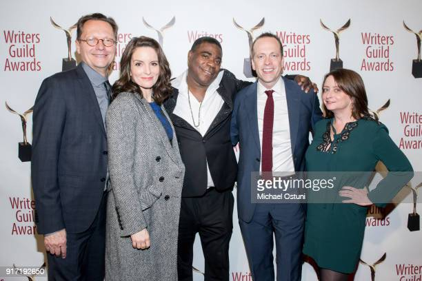 Tina Fey Traci Morgan Robert Carlock and Rachel Dratch attend the 2018 Writers Guild Awards NYC Ceremony on February 11 2018 in New York City