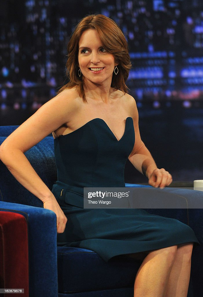 Tina Fey visits 'Late Night With Jimmy Fallon' at Rockefeller Center on February 28, 2013 in New York City.