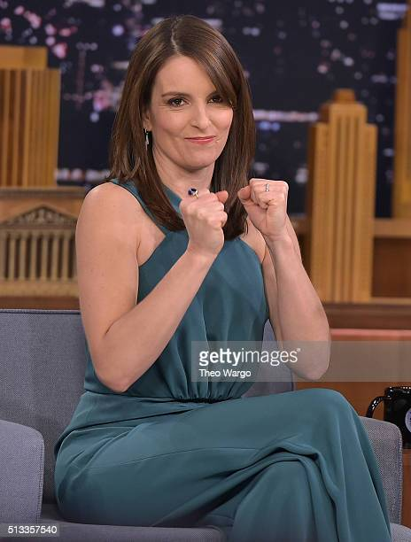 Tina Fey Visits 'The Tonight Show Starring Jimmy Fallon' at NBC Studios on March 2 2016 in New York City