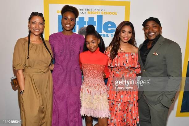 Tina Gordon Issa Rae Marsai Martin Regina Hall and Will Packer attends Little Atlanta red carpet screening at Regal Atlantic Station on April 04 2019...