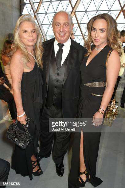 Tina Green Sir Philip Green and Chloe Green attend the Fashion for Relief event during the 70th annual Cannes Film Festival at Aeroport Cannes...