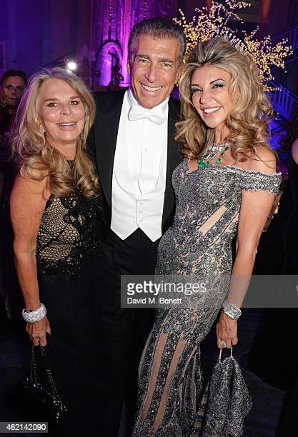 Tina Green Steve Varsano and Lisa Tchenguiz attend Lisa Tchenguiz's 50th birthday party at the Troxy on January 24 2015 in London England
