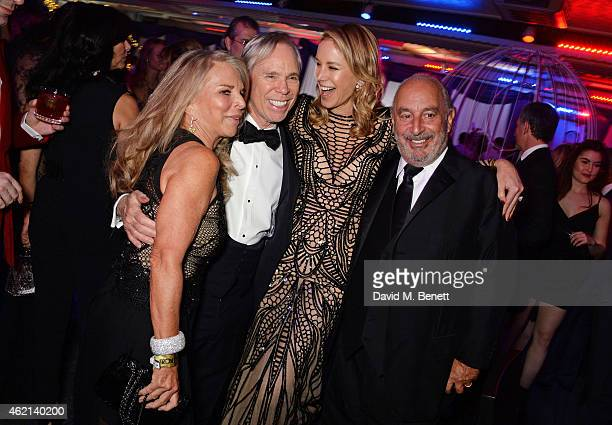 Tina Green Tommy Hilfiger Dee Ocleppo and Sir Philip Green attend Lisa Tchenguiz's 50th birthday party at the Troxy on January 24 2015 in London...