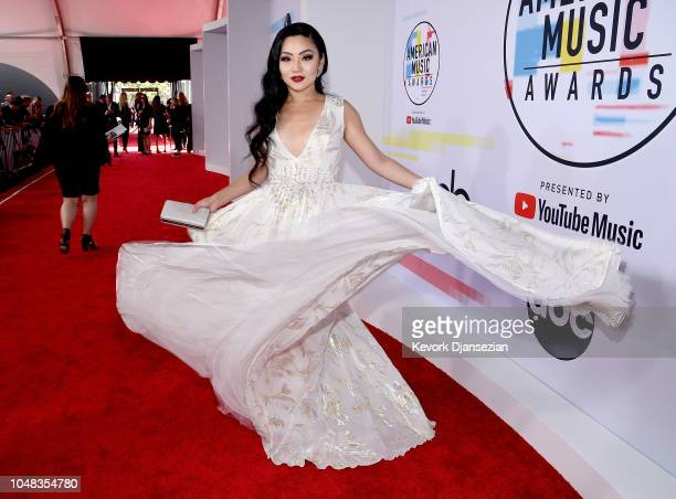 Tina Guo attends the 2018 American Music Awards at Microsoft Theater on October 9 2018 in Los Angeles California