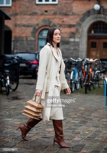 Tina Haase is seen outside Mykke Hofmann on Day 1 during Copenhagen Fashion Week Autumn/Winter 2020 on January 28, 2020 in Copenhagen, Denmark.