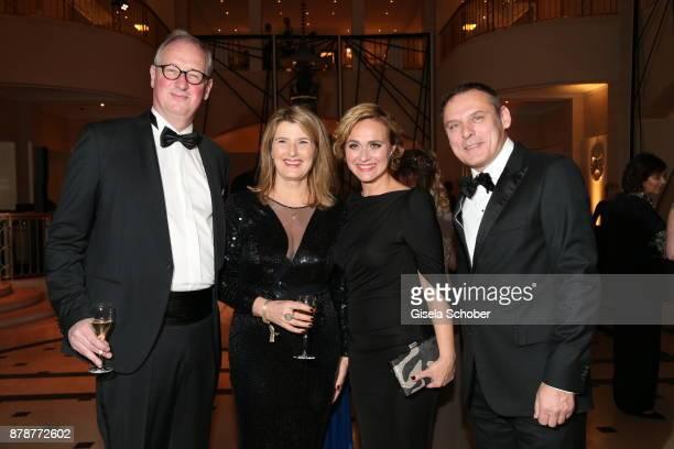 Tina Hassel and her husband Tillmann Schumacher Caren Miosga moderator 'Tagesthemen and her husband Tobias Grob during the 66th 'Bundespresseball' at...