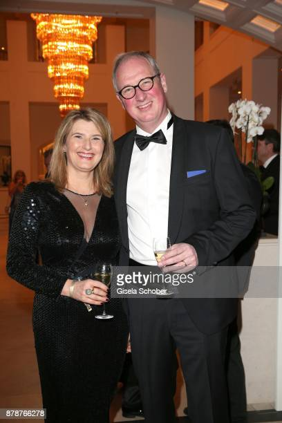 Tina Hassel and her husband Tillmann Schumacher during the 66th 'Bundespresseball' at Hotel Adlon on November 24 2017 in Berlin Germany