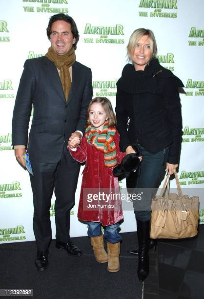 Tina Hobley and guest during Arthur and the Invisibles London Premiere Inside Arrivals at Vue Leicester Square in London Great Britain