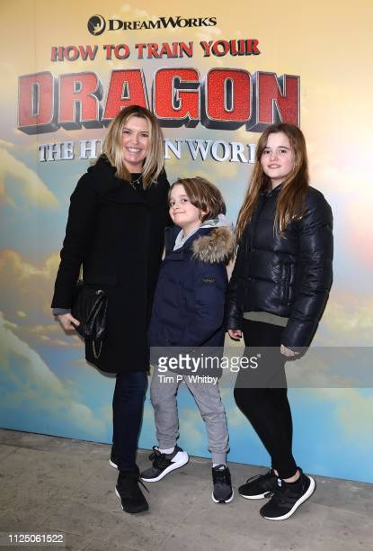 Tina Hobley and guests attend How To Train Your Dragon The Hidden World – Immersive Screening on January 26 2019 in London England