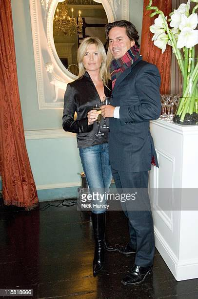 Tina Hobley and Oliver Wheeler during Westfield London Celebrates BFC Fashion Forward Party Inside at Home House in London Great Britain