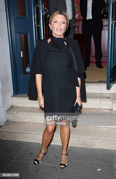 Tina Hobley arrives to celebrate the success of the Lady Garden campaign on September 8 2016 in London United Kingdom