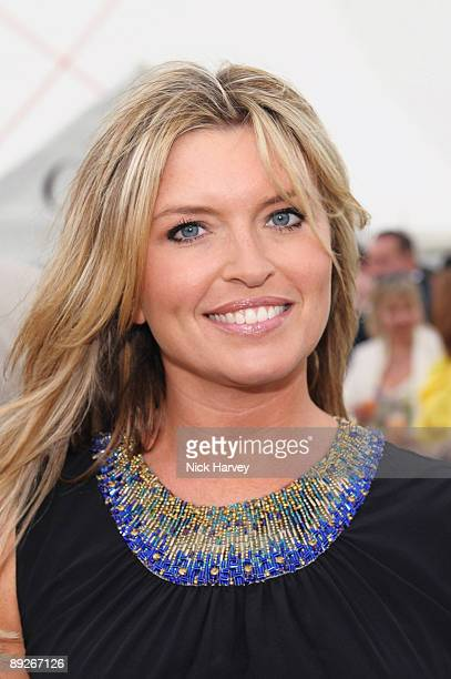 Tina Hobley at the Cartier tent during the Cartier Internaional Polo Day at Guards Polo Club on July 26 2009 in Egham England